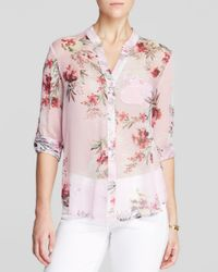 Kut From The Kloth - Pink Jasmine Floral Print Blouse - Lyst