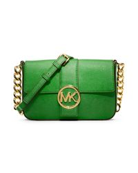 Michael Kors | Green Fulton Small Messenger Bag | Lyst