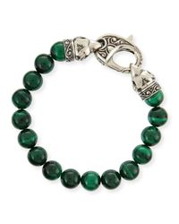 Stephen Webster | Green Malachite Beaded Bracelet | Lyst