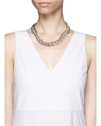 Philippe Audibert - Metallic Gourmette Chain Necklace - Lyst