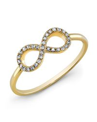 Anne Sisteron | 14kt Yellow Gold Diamond Small Infinity Ring | Lyst