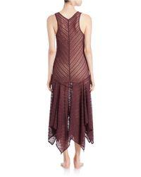 Free People | Purple Lace Maxi Slip Dress | Lyst