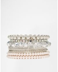 Lipsy | Metallic Sparkle Bangle Pack | Lyst