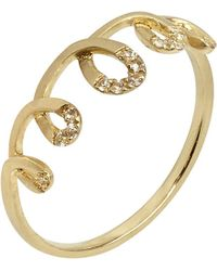 Annoushka - Metallic Coronet 14ct Yellow-gold And Sapphire Ring - Lyst