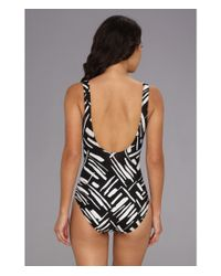 Miraclesuit - Black Modern Love Escape Swimsuit - Lyst