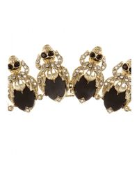 Givenchy | Black Crystal-embellished Necklace | Lyst