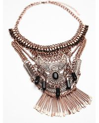 Free People | Metallic Womens Kingdom Statement Collar | Lyst