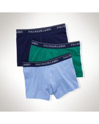 Polo Ralph Lauren | Multicolor Stretch-cotton-trunk 3-pack for Men | Lyst