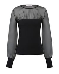 Dorothee Schumacher - Black Playful Silhouettes Shirt, O-neck, 1/1 - Lyst