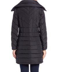MICHAEL Michael Kors | Black Collared Puffer Coat | Lyst