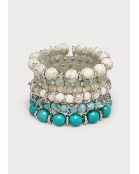 Bebe - Blue Beaded Stretch Bracelet Set - Lyst