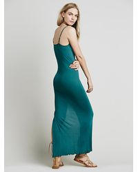 Free People - Green Seamless Drape Maxi - Lyst