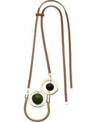 Marni | Multicolor Leather Pendant Necklace | Lyst