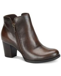 Born - Brown Jeana Booties - Lyst