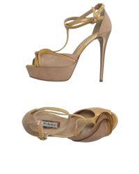 Pinko - Natural Sandals - Lyst