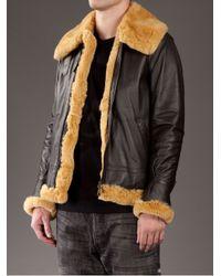 Mastermind Japan - Brown Rabbit Fur Flight Jacket for Men - Lyst
