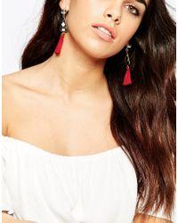 ASOS - Multicolor Fan Tassel Earrings - Lyst