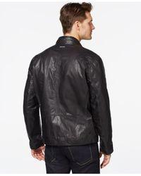 Marc New York | Black Mac Moto Leather Jacket for Men | Lyst