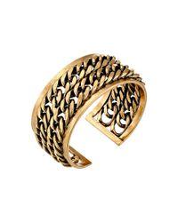 Lucky Brand | Metallic Gold Chain Cuff Bracelet | Lyst