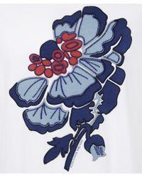 Alexander McQueen - White Crew Neck Floral Print T-shirt - Lyst