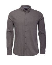Tommy Hilfiger | Gray Light Flannel Shirt for Men | Lyst