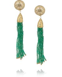Rosantica | Green Cascata Jade Clip Earrings | Lyst
