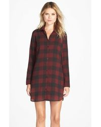 BB Dakota - Black 'cotter' Plaid Shirtdress - Lyst