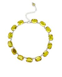 ASOS | Yellow Oval Stone Necklace | Lyst