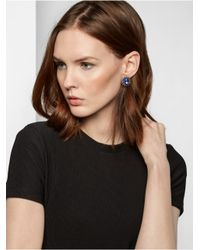 BaubleBar - Purple Opal Gerbera Studs-blue/antique Gold - Lyst