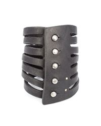 Rick Owens | Black Multi Strand Bracelet | Lyst
