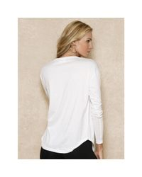 Ralph Lauren | White Pink Pony Long-sleeved Tee | Lyst