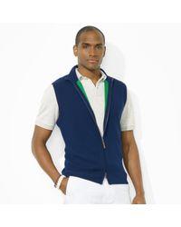 Polo Ralph Lauren | Blue Fullzip Mockneck Vest for Men | Lyst
