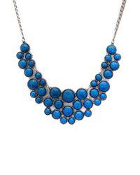 Forever 21 - Blue Faux Gemstone Bib Necklace - Lyst