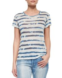 Ralph Lauren Black Label - Blue Whitney Tie Dye Striped Tee - Lyst