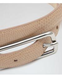 Reiss - Pink Minx Link-detail Belt - Lyst