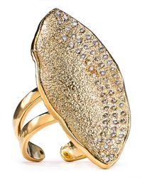 Melinda Maria - Metallic Mademoiselle Adjustable Pod Ring - Lyst