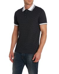 Armani Jeans | Black Small Logo Print Polo Shirt for Men | Lyst