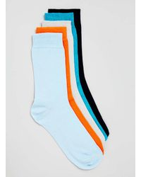 TOPMAN - Multicolor Plain 5 Pack Socks for Men - Lyst