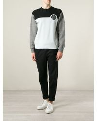 KENZO | Black Colour Block Sweatshirt for Men | Lyst