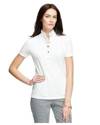 Brooks Brothers | White Short-sleeve Slim Fit Polo Shirt | Lyst