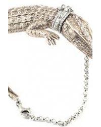 Bernard Delettrez | Metallic Crocodile Bracelet | Lyst