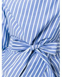 Vivienne Westwood Anglomania | Blue Belted Structured Shirt | Lyst