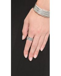 Luv Aj - Metallic The Pave Coil Ring - Silver Ox/clear - Lyst