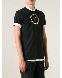Givenchy - Black '17' T-Shirt for Men - Lyst