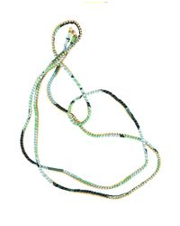 Alyssa Norton - Green Silk Rhinestone Wrap - Lyst