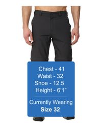 The North Face   Black Horizon Convertible Pant for Men   Lyst