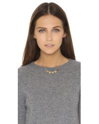 Phyllis + Rosie - Metallic Mini Spike Necklace - Gold - Lyst