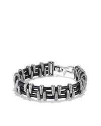 David Yurman - Black Cable Station Bracelet for Men - Lyst