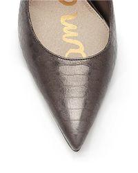 Sam Edelman | Metallic Dea Snake Print Leather Pumps | Lyst