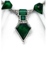 Alexis Bittar   Green Embellished Bib Necklace   Lyst